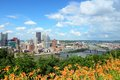 Pittsburgh pennsylvania city in the united states skyline with monongahela river Stock Image
