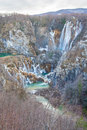 Pitvice national park the picture from the view point of plitvice croatia Stock Photo