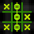 Pixel à bits art tic tac toe game position de gain Images libres de droits