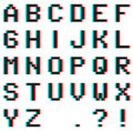 Pixel Alphabet With Anaglyph 3...