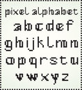 Pixel alphabet lower case letters use for titles or headlines Royalty Free Stock Images
