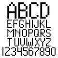 Pixel alphabet and numbers Royalty Free Stock Photos