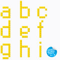Pixel alphabet unique block with yellow color Stock Photography