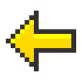 Pixel arrow pointer icon link marker