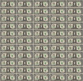 Pixel art dollar bill background a style repeating pattern design of a one Royalty Free Stock Images