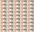 Pixel art dollar bill background a style repeating pattern design of a ten pound note Royalty Free Stock Photos