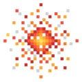 Pixel art explosion