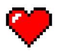 Pixel art heart Royalty Free Stock Photo