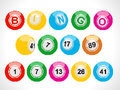 Pixel bingo balls set on a white background Stock Photography