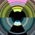 Pixel Colorful Circles, Backgr...