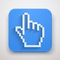 Pixel cursor icon click mouse hand icons vector illustration for web and mobile application premium design Royalty Free Stock Image