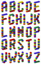Pixel font toy block style Stock Images