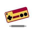 Pixel game 8 bit vector Royalty Free Stock Image