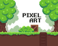 Pixel Game Background Royalty Free Stock Photo