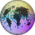Pixel Globe Royalty Free Stock Photography