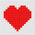 Pixel_heart Royalty Free Stock Photos