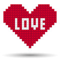 Pixel Heart Love Stock Image