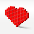 Pixel_heart_perspective Stock Images