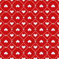 Pixel hearts seamless pattern design with style Stock Photography