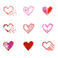 Pixel Hearts set.