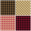 Pixel Houndstooth Patterns Royalty Free Stock Photo
