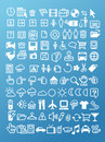Pixel icon set Royalty Free Stock Images