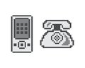 Pixel Object Theme Phone