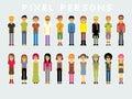 Pixel People Royalty Free Stock Photo