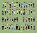56 pixel people Royalty Free Stock Photo