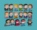 Pixel People Royalty Free Stock Photo