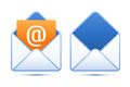 Pixel perfect email icons vector illustration for your design Royalty Free Stock Photo
