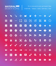 Pixel perfect solid material design icons