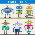 Pixel Robot Royalty Free Stock Photo