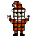 Pixel Santa. Christmas theme. Royalty Free Stock Photography