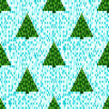 Pixel seamless pattern with Christmas trees