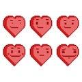 Pixel set funny hearts