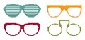 Pixel sun glasses set Royalty Free Stock Photo