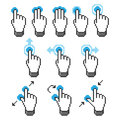 Pixel touch screen gestures Stock Photo