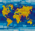 Pixel world map Royalty Free Stock Images