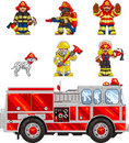 PixelArt: FireFighters Royalty Free Stock Image