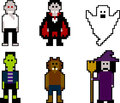 Pixelart halloween Royalty Free Stock Images