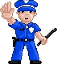 PixelArt: Police Officer Stock Images