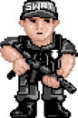 PixelArt: Police SWAT Royalty Free Stock Images