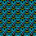 Pixels beautiful small polygons Abstract seamless geometrical pattern