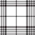 Pixels black and white check plaid seamless pattern Royalty Free Stock Photo