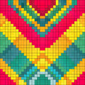 Pixels colored geometric background