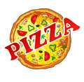 Pizza Royalty-vrije Stock Foto