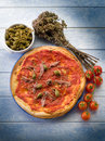 Pizza with anchovies Royalty Free Stock Image