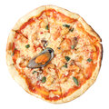 Pizza avec des fruits de mer Photos stock