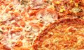 Pizza background close up of different kinds of Stock Photo